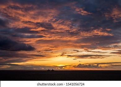 Horse riding sunset at Los Lances beach, Tarifa, Cadiz, Andalusia, Spain