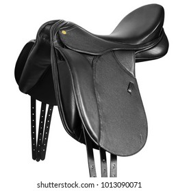 Horse saddle isolated on white