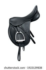 Horse saddle is isolated on a white background. Save with adding the clipping path.