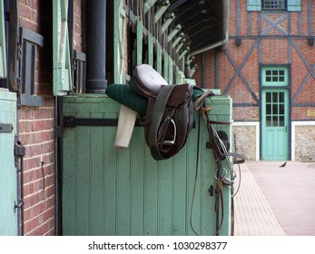 Horse Seat in a French Stud Near Paris