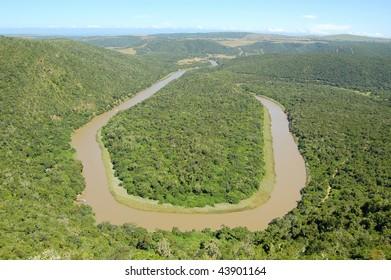 Horse shoe bend, Kowie River, Bathurst, Eastern Cape, South Africa