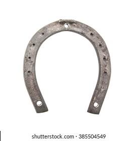 Horse shoe isolated on white background. New horseshoe