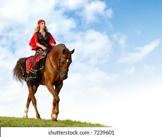 horse show in fancy-dress - Gypsy