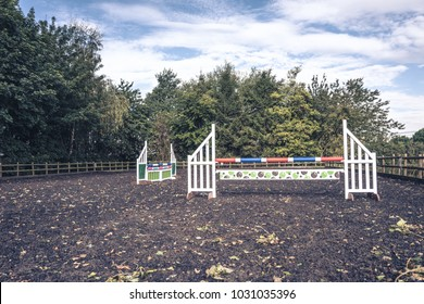 Horse show jumping outdoor school/menage