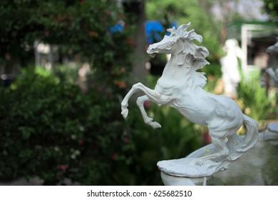 Horse Statue in Garden
