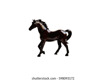 Horse statue isolated on white background