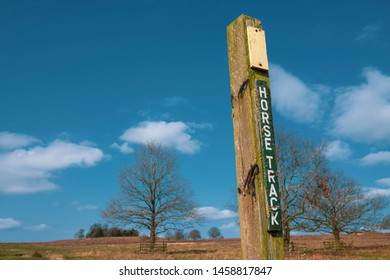 horse track sign at Leicester Bradgate Park