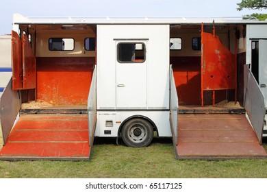 Horse transportation van