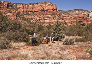 Horseback riding into Sedona's Red Rock Country