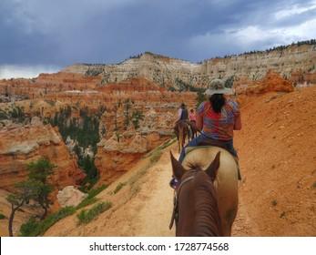 Horseback riding through the scenic Bryce Canyon National Park
