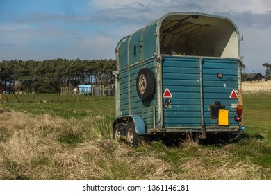 Horsebox at Lochouses, East Lothian.