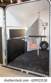 Horseboxes before loading the horses inside - Newly trailer