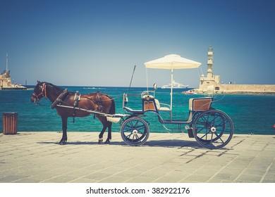 Horse-drawn carriage (Chania, Crete, Greece)