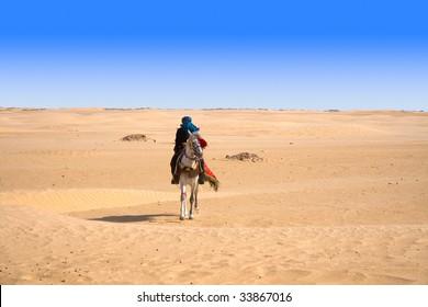 horseman in desert