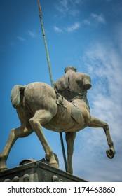Horseman Statue in the Sky