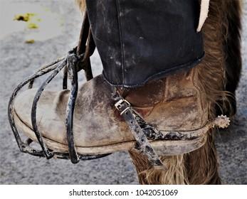 horsemann boot inside stirrup  from camargue