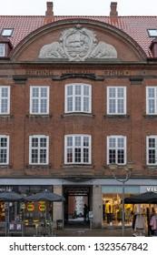 HORSENS, DENMARK - FEBRUARY 19, 2019: Birthplace of Famous Explorer Vitus Bering, February 19, Horsens, Denmark.