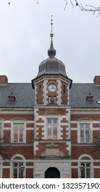 HORSENS, DENMARK - FEBRUARY 8, 2019: The Old Town Hall of Horsens, February 8, Horsens, Denmark.