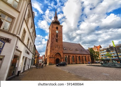 HORSENS, DENMARK - JUNE 11: Church of the Saviour in the historic center of the city of Horsens in 2012