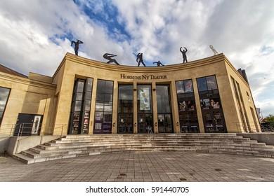 HORSENS, DENMARK - JUNE 11: The theater of Horsens in 2012