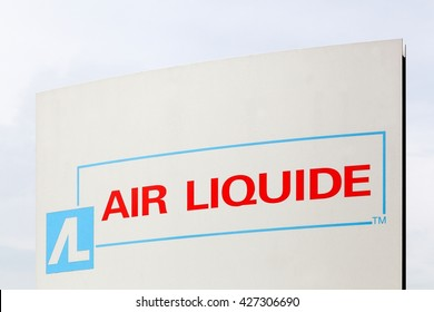 Horsens, Denmark - May 22, 2016: Air Liquide is a french multinational company which supplies industrial gases and services to various industries like medical, chemical and electronic manufacturers