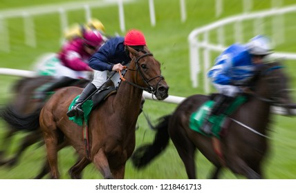 Horseracing motion blur speed effect