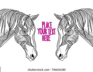 Horse Head Coloring Pages - Mane, HD Png Download - kindpng | 280x362