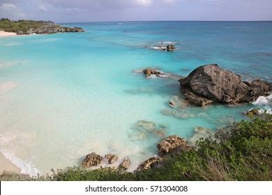 Horseshoe Bay beach at The Fairmont Hotel in Southampton, Bermuda