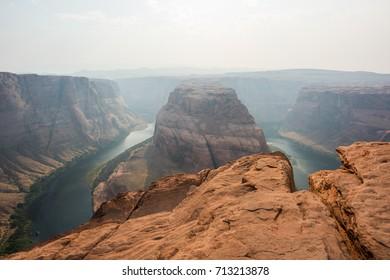 Horseshoe Bend in the Colorado River, near Page, Arizona, United States of America.