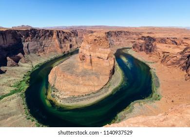Horseshoe Bend, meander of Colorado River located near Page, Arizona, USA
