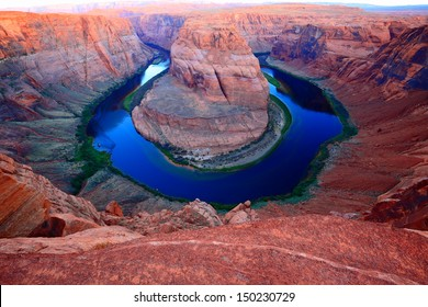 The horseshoe bend near Page, Arizona