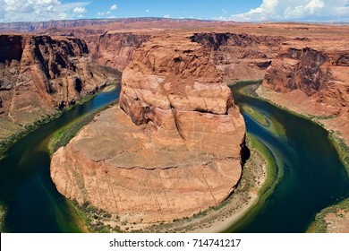 Horseshoe Bend, USA, Arizona, Horseshoe Bend is a horseshoe-shaped incised meander of the Colorado River, August 1, 2017