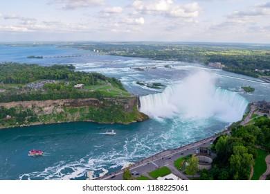 Horseshoe Falls aerial view. Canada, USA.
