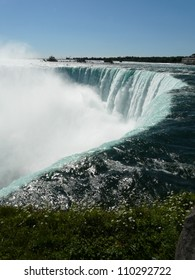 The Horseshoe Falls at Niagara Falls from the Canadian side of the falls