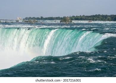 The Horseshoe Falls are shown in Niagara Falls, Ontario, Canada.