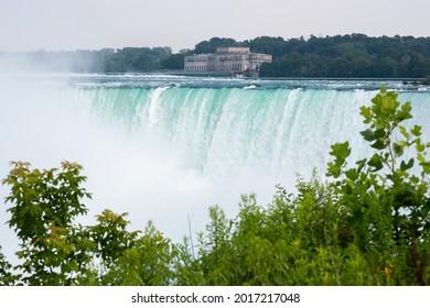 The Horseshoe Falls are shown, in Niagara Falls, Ontario, Canada.