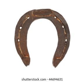 Horseshoe isolated on white
