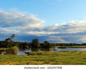 Horseshoe Lake in springtime in Bidwell Park, Chico, California