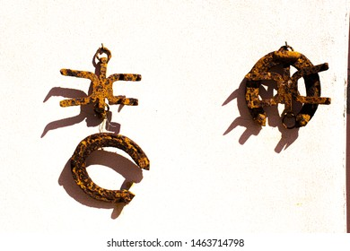horseshoes and crampons used by mules in the First World War in Asiago