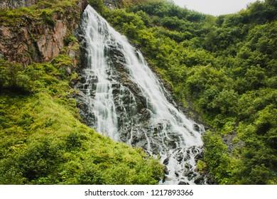 Horsetail Falls Trail. Alaska