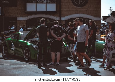 Horsham, West Sussex, England, 21/4/2019. Piazza Italia ( Italian Car Show)