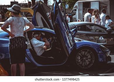 Horsham, West Sussex, England. 21/4/2019. Piazza Italia ( Italian car show )