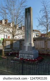 HORSHAM WEST SUSSEX/UK - NOVEMBER 30 : View of the War Memorial in Horsham West Sussex on  November 30, 2018. One unidentified person
