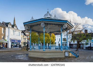 HORSHAM WEST SUSSEX/UK - NOVEMBER 30 : View of the bandstand in Horsham West Sussex on  November 30, 2018. Unidentified people