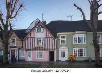 HORSHAM WEST SUSSEX/UK - NOVEMBER 30 : Houses close to the town centre in Horsham West Sussex on  November 30, 2018