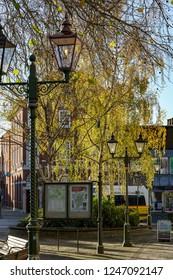 HORSHAM WEST SUSSEX/UK - NOVEMBER 30 : View towards the town centre in Horsham West Sussex on  November 30, 2018