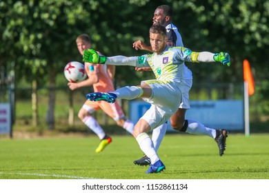 Horst, Netherlands - June 29, 2018: Player of RSC Anderlecht Thomas Didillon in action during friendly match RSC Anderlecht vs PAOK at Sport park Sporting Swolgen Tienray