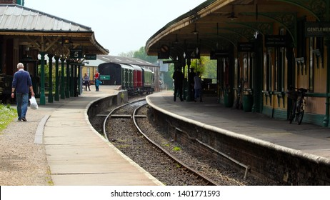 Horsted Keyenes Sussex UK May 2019 Bluebell railway location of many film and TV scenes