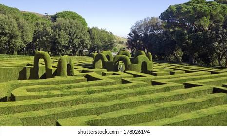 Horta Labyrinth. Passeig de Castanyers. Barcelona city, Catalonia, Spain