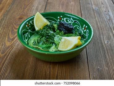 Horta Vrasta - Greek Boiled  Dandelion Leafy Greens,